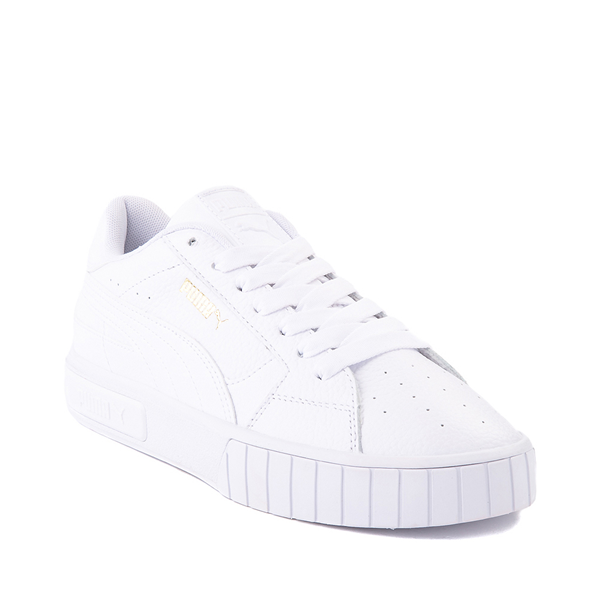 alternate view Womens Puma Cali Star Athletic Shoe - White / GoldALT5