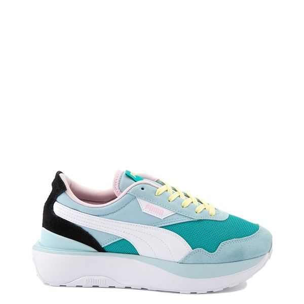 Main view of Womens Puma Cruise Rider Platform Athletic Shoe - Viridian Green / Aquamarine