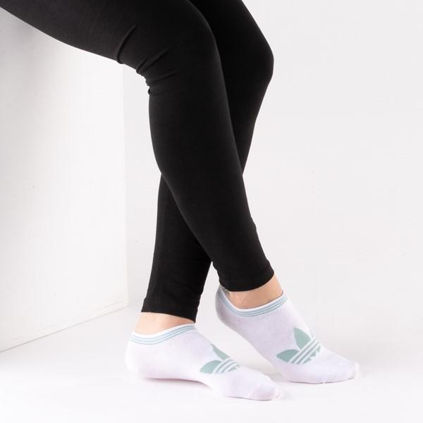 alternate view Womens adidas Low Cut Socks 6 Pack - MulticolorALT1