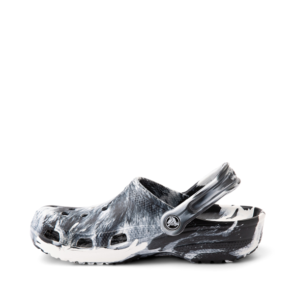 alternate view Crocs Classic Clog - Marbled Black / WhiteALT1