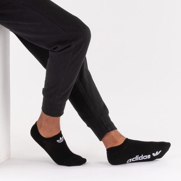 alternate view Mens adidas Trefoil Liners 6 Pack - Black / White / GrayALT1