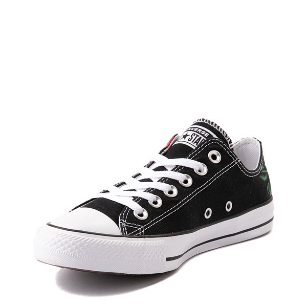 alternate view Converse Chuck Taylor All Star Lo Sneaker - Black / RosesALT3