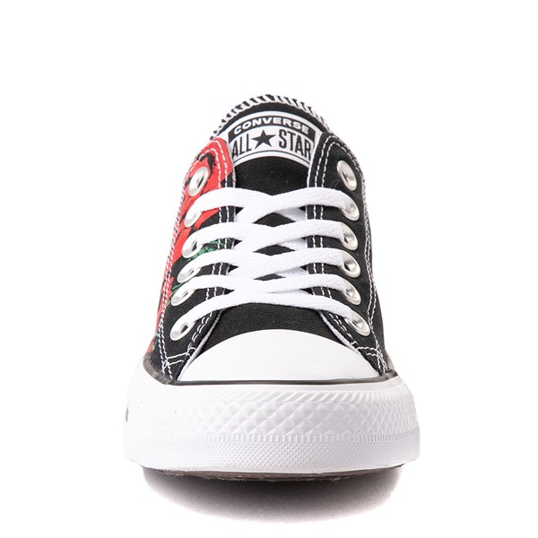 alternate view Converse Chuck Taylor All Star Lo Sneaker - Black / RosesALT4