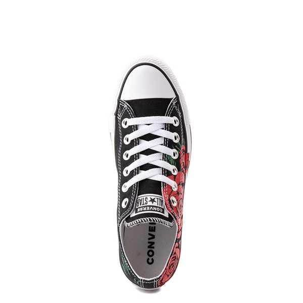 alternate view Converse Chuck Taylor All Star Lo Sneaker - Black / RosesALT4B
