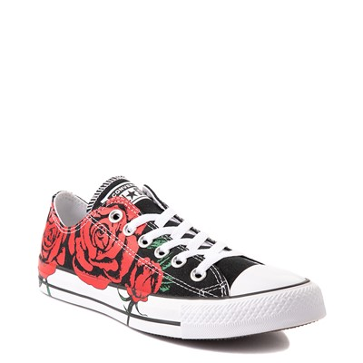 Alternate view of Converse Chuck Taylor All Star Lo Sneaker - Black / Roses