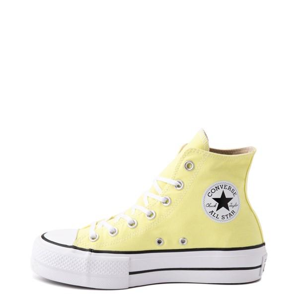 alternate view Womens Converse Chuck Taylor All Star Hi Platform Sneaker - Light ZitronALT1
