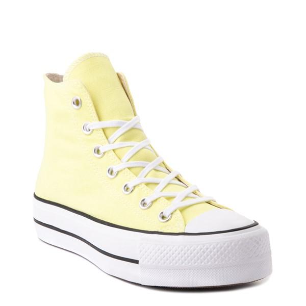 alternate view Womens Converse Chuck Taylor All Star Hi Platform Sneaker - Light ZitronALT5