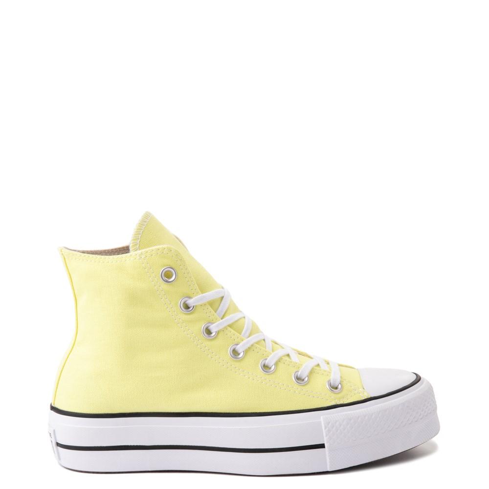 Womens Converse Chuck Taylor All Star Hi Platform Sneaker - Light Zitron