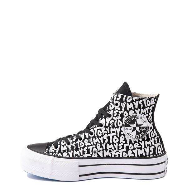 alternate view Womens Converse Chuck Taylor All Star Hi My Story Platform Sneaker - BlackALT1