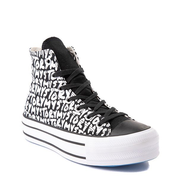 alternate view Womens Converse Chuck Taylor All Star Hi My Story Platform Sneaker - BlackALT5