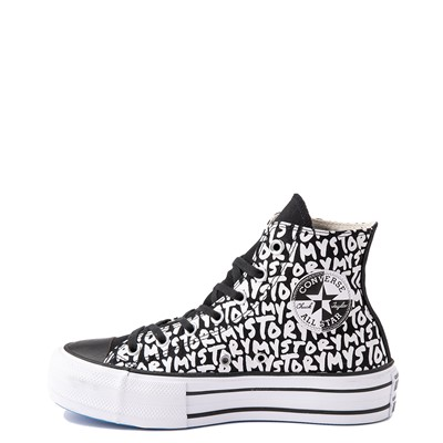 Alternate view of Womens Converse Chuck Taylor All Star Hi My Story Platform Sneaker - Black