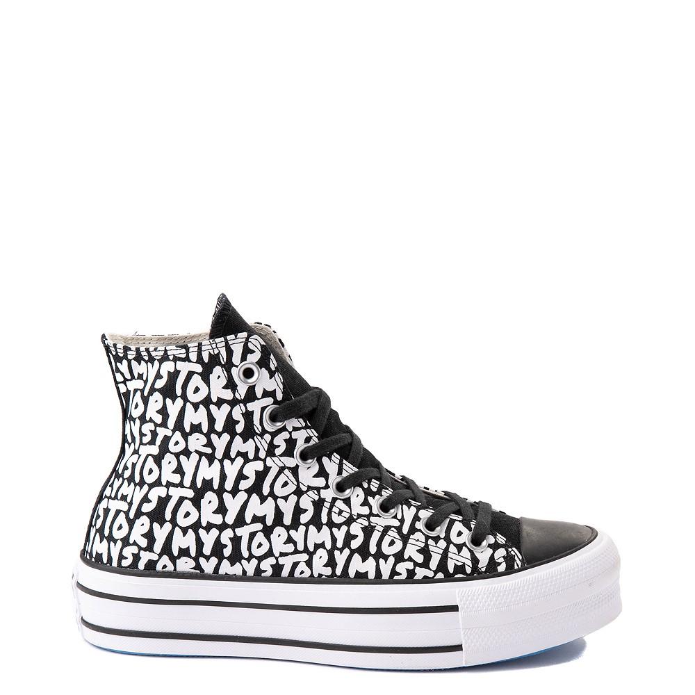 Womens Converse Chuck Taylor All Star Hi My Story Platform Sneaker - Black
