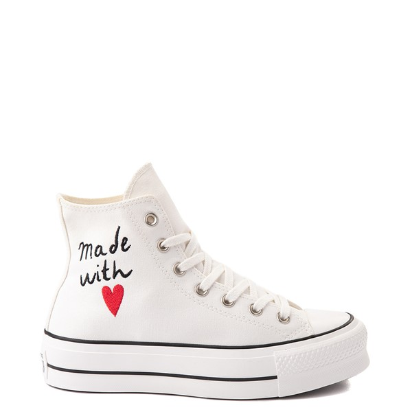 Main view of Womens Converse Chuck Taylor All Star Hi Lift Love Thread Sneaker - Vintage White