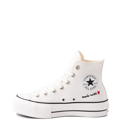 Alternate view of Womens Converse Chuck Taylor All Star Hi Lift Love Thread Sneaker - Vintage White