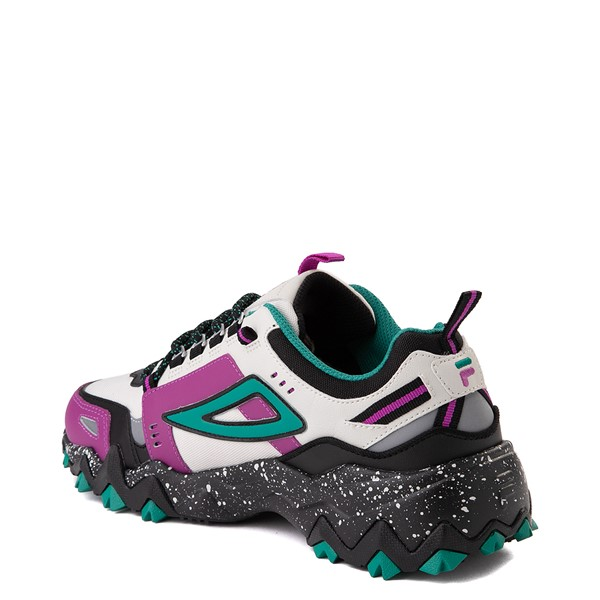alternate view Mens Fila Oakmont TR Athletic Shoe - Silver Birch / Black / Purple Cactus FlowerALT1B