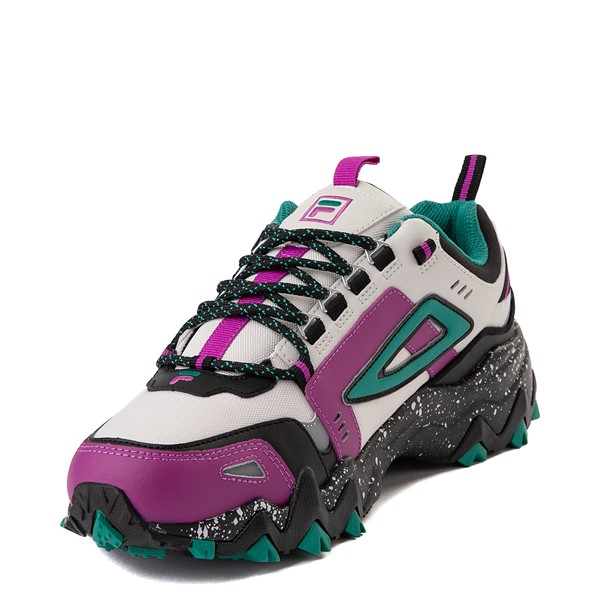 alternate view Mens Fila Oakmont TR Athletic Shoe - Silver Birch / Black / Purple Cactus FlowerALT2