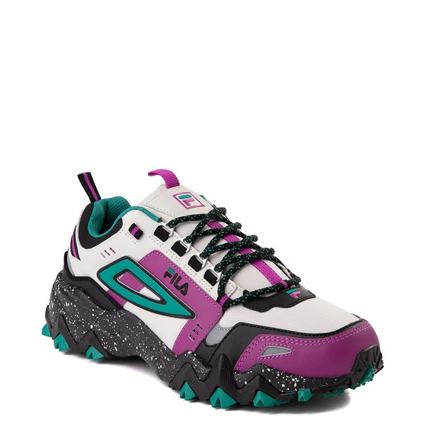 alternate view Mens Fila Oakmont TR Athletic Shoe - Silver Birch / Black / Purple Cactus FlowerALT5