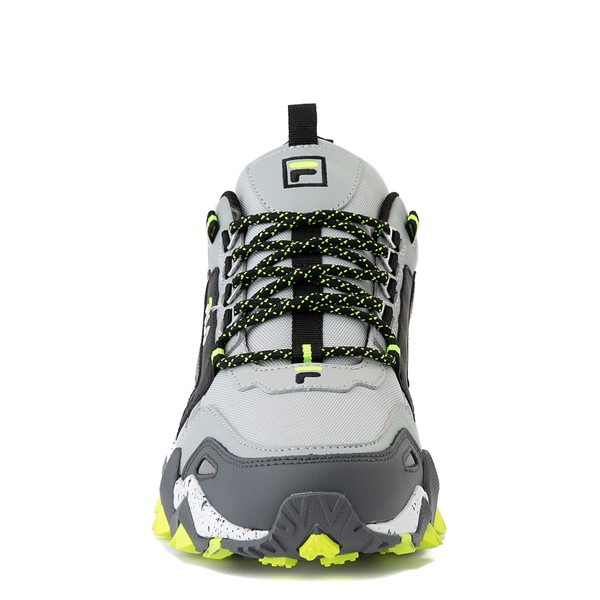 alternate view Mens Fila Oakmont TR Athletic Shoe - Highrise / Castlerock / Safety YellowALT4