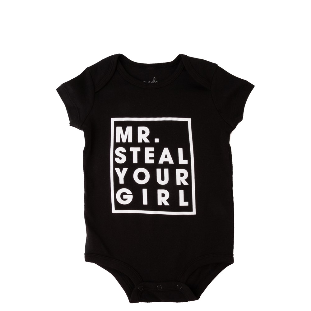 Mr. Steal Your Girl Snap Tee - Baby - Black