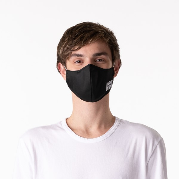 alternate view Herschel Supply Co. Classic Fitted Face Mask - BlackALT1