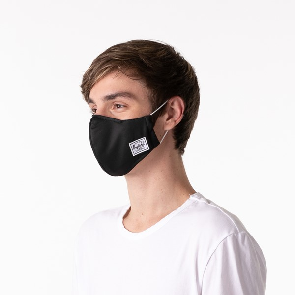 alternate view Herschel Supply Co. Classic Fitted Face Mask - BlackALT3