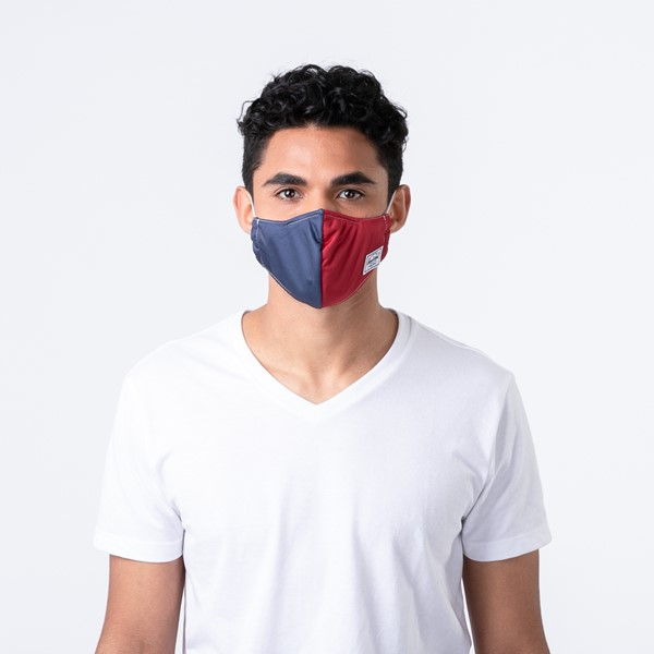 alternate view Herschel Supply Co. Classic Fitted Face Mask - Navy / RedALT1