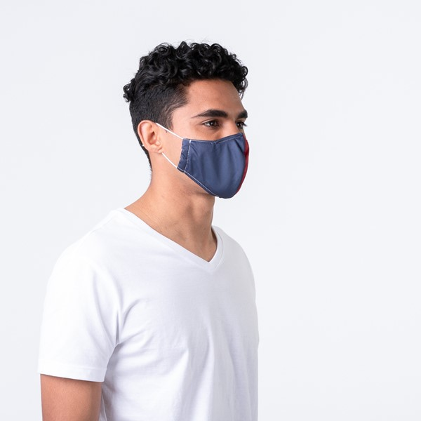 alternate view Herschel Supply Co. Classic Fitted Face Mask - Navy / RedALT1B
