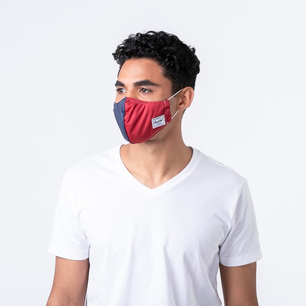 alternate view Herschel Supply Co. Classic Fitted Face Mask - Navy / RedALT1C