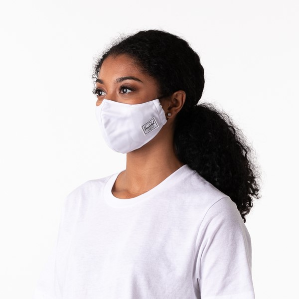 alternate view Herschel Supply Co. Classic Fitted Face Mask - WhiteALT3