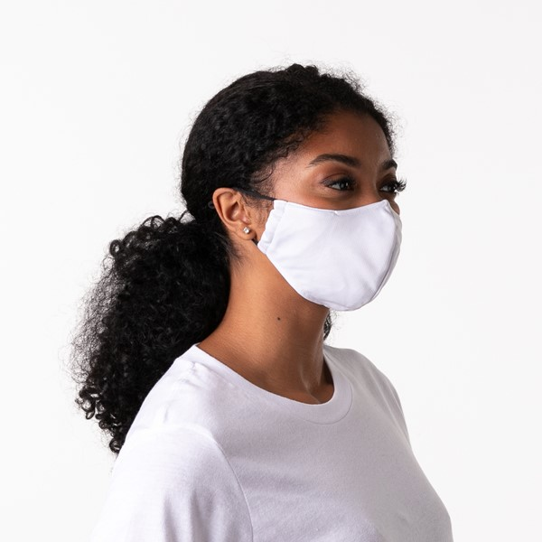 alternate view Herschel Supply Co. Classic Fitted Face Mask - WhiteALT4