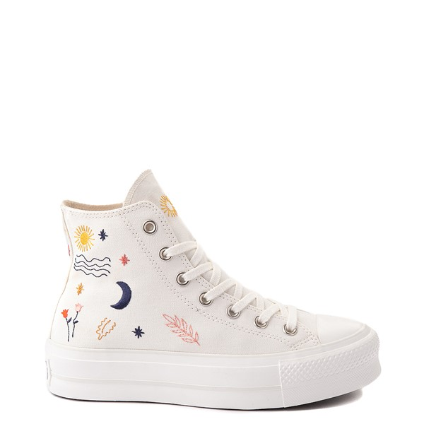 Main view of Womens Converse Chuck Taylor All Star Hi It's OK To Wander Platform Sneaker - Egret