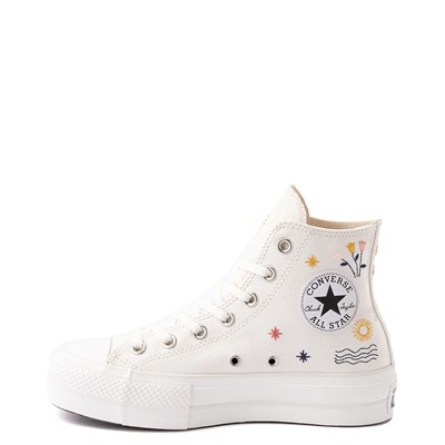 Alternate view of Womens Converse Chuck Taylor All Star Hi It's OK To Wander Platform Sneaker - Egret