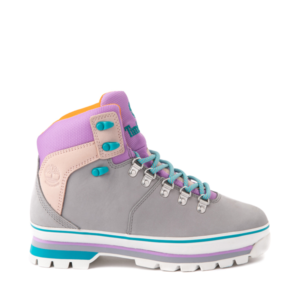 Main view of Womens Timberland Euro Hiker Boot - Gray / Purple / Turquoise