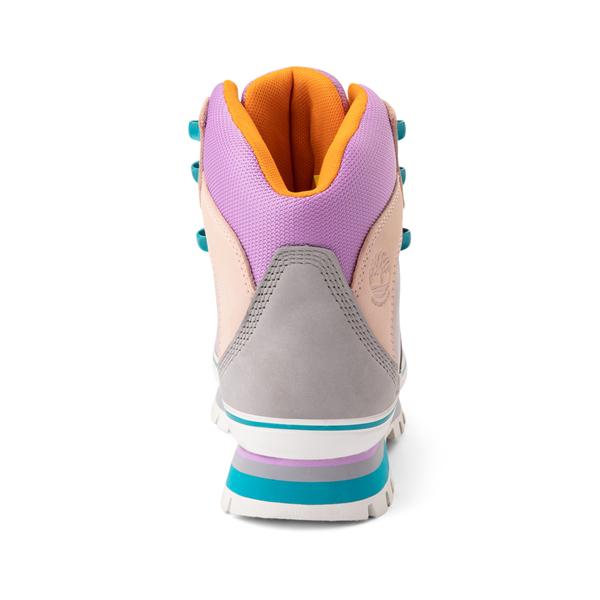 alternate view Womens Timberland Euro Hiker Boot - Gray / Purple / TurquoiseALT4