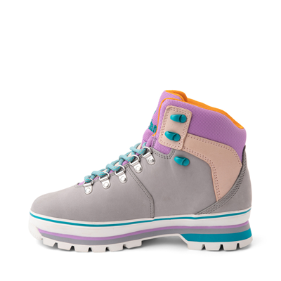 Alternate view of Womens Timberland Euro Hiker Boot - Gray / Purple / Turquoise