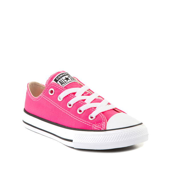 alternate view Converse Chuck Taylor All Star Lo Sneaker - Little Kid - Hyper PinkALT5