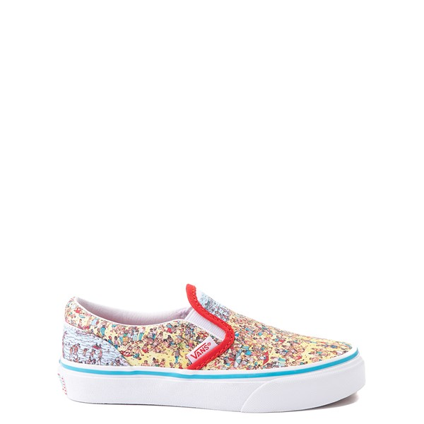Vans x Where's Waldo Slip On Beach Skate Shoe - Little Kid - Multicolor