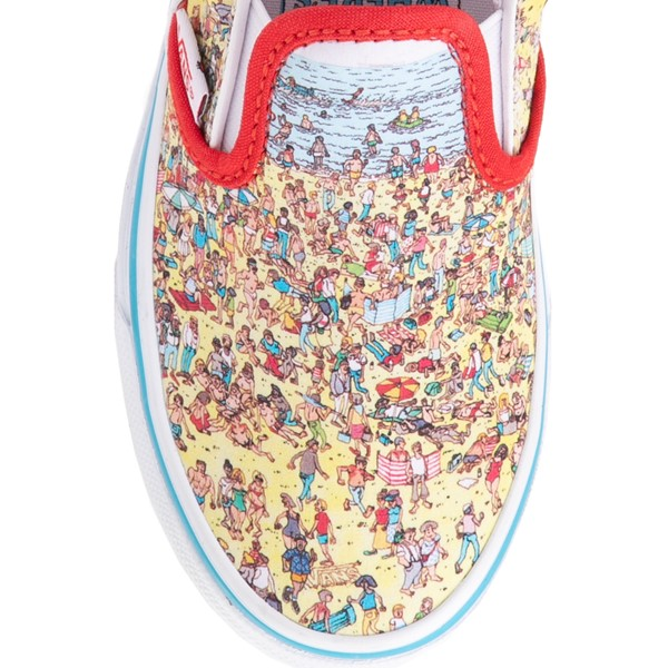 alternate view Vans x Where's Waldo Slip On Beach Skate Shoe - Little Kid - MulticolorALT1