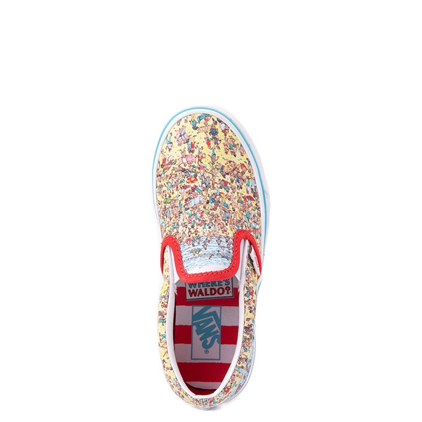 alternate view Vans x Where's Waldo Slip On Beach Skate Shoe - Little Kid - MulticolorALT2