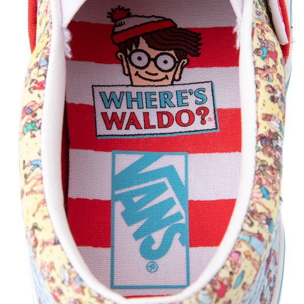 alternate view Vans x Where's Waldo Slip On Beach Skate Shoe - Little Kid - MulticolorALT2B