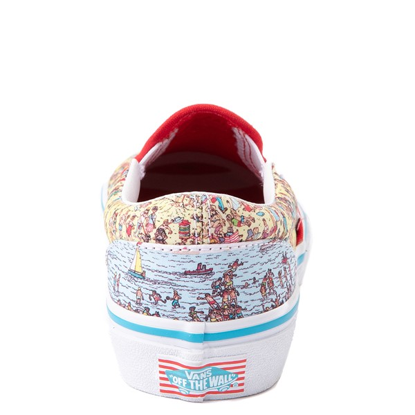 alternate view Vans x Where's Waldo Slip On Beach Skate Shoe - Little Kid - MulticolorALT4