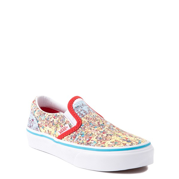 alternate view Vans x Where's Waldo Slip On Beach Skate Shoe - Little Kid - MulticolorALT5