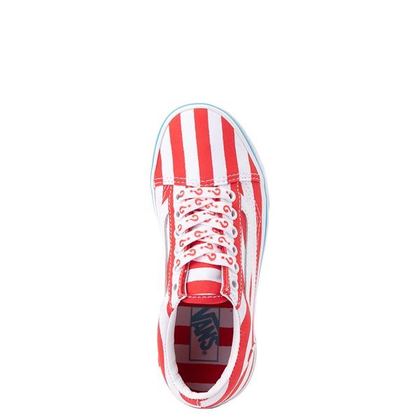 alternate view Vans x Where's Waldo Old Skool International Stripes Skate Shoe - Little Kid - White / RedALT2