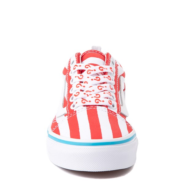 alternate view Vans x Where's Waldo Old Skool International Stripes Skate Shoe - Little Kid - White / RedALT4