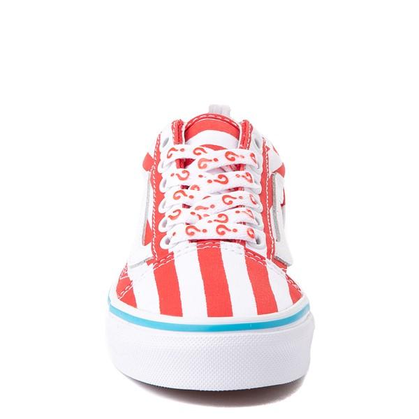 alternate view Vans x Where's Waldo Old Skool International Stripes Skate Shoe - Little Kid - White / RedALT4