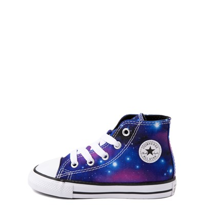 Alternate view of Converse Chuck Taylor All Star Hi Galaxy Sneaker - Baby / Toddler - Multicolor