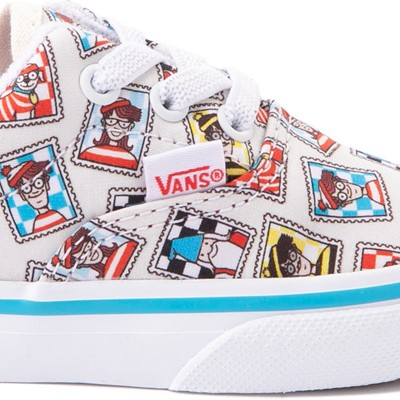 Alternate view of Vans x Where's Waldo Era Postage Skate Shoe - Baby / Toddler - White