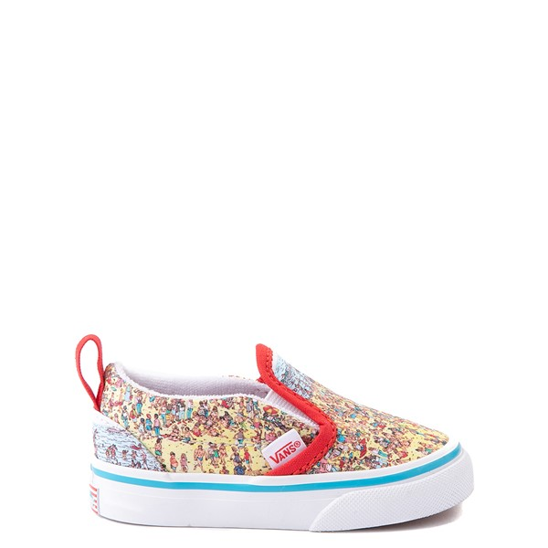 Vans x Where's Waldo Slip On V Beach Skate Shoe - Baby / Toddler - Multicolor