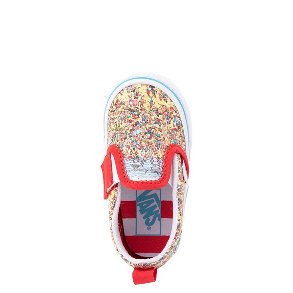 alternate view Vans x Where's Waldo Slip On V Beach Skate Shoe - Baby / Toddler - MulticolorALT4B