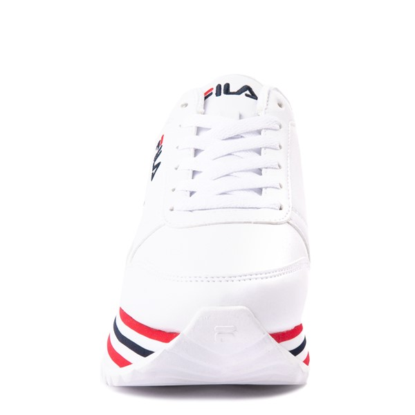 alternate view Womens Fila Orbit Stripe Athletic Shoe - White / Navy / RedALT4